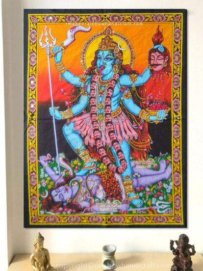 kali shiva wall tapestry