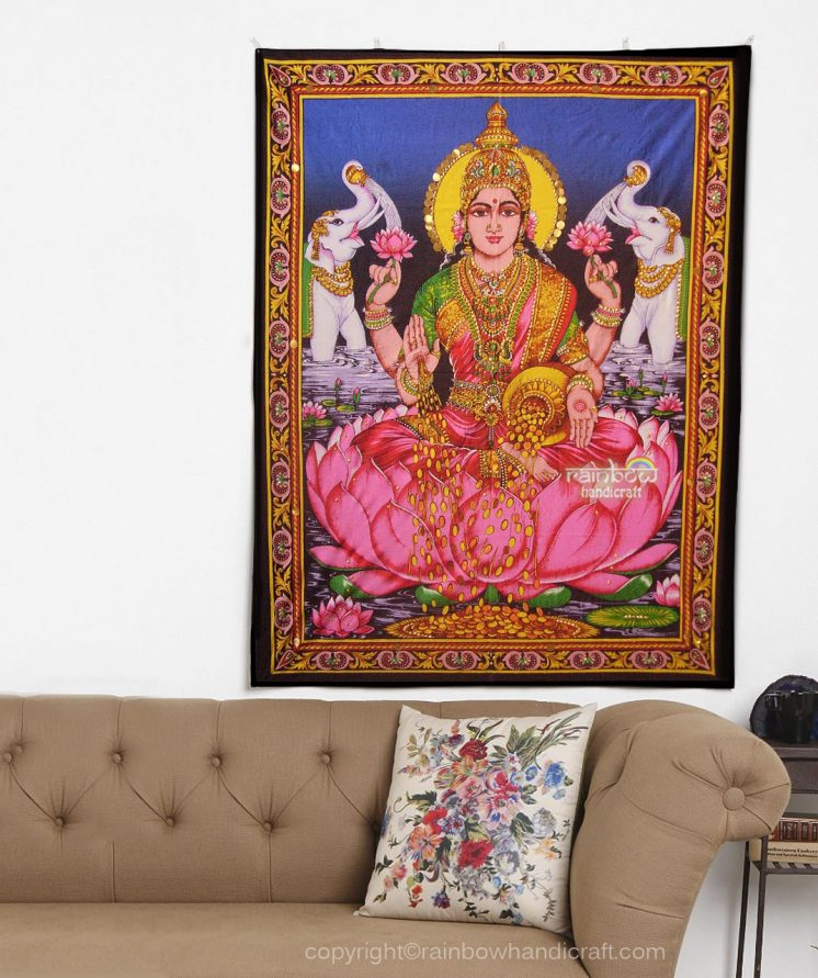 Lakshmi wall tapestry