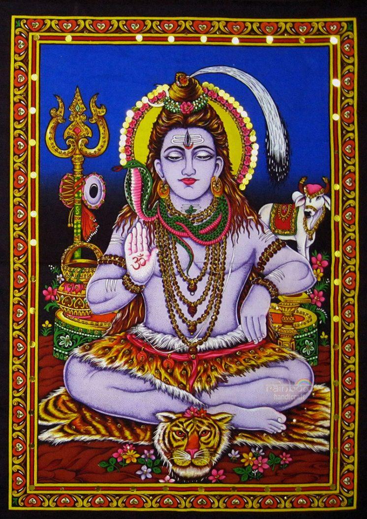 blue shiva wall tapestry