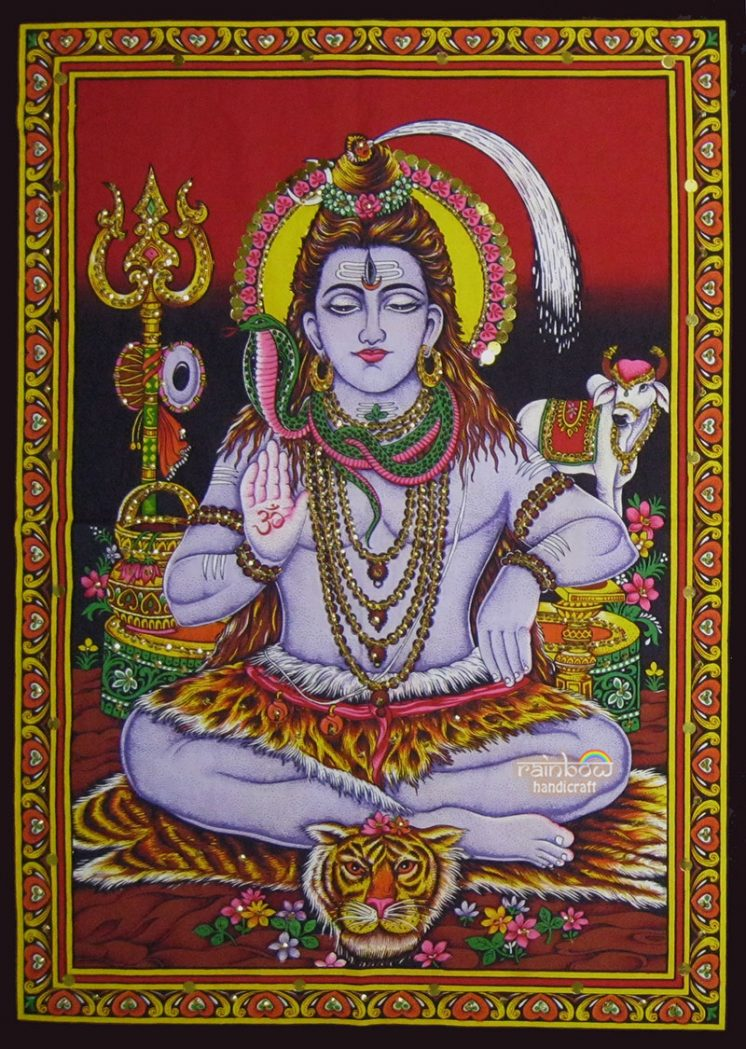 red shiva wall tapestry