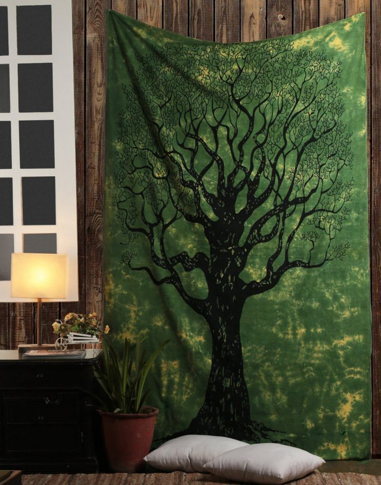 dry tree of life wall hanging tapestry decor